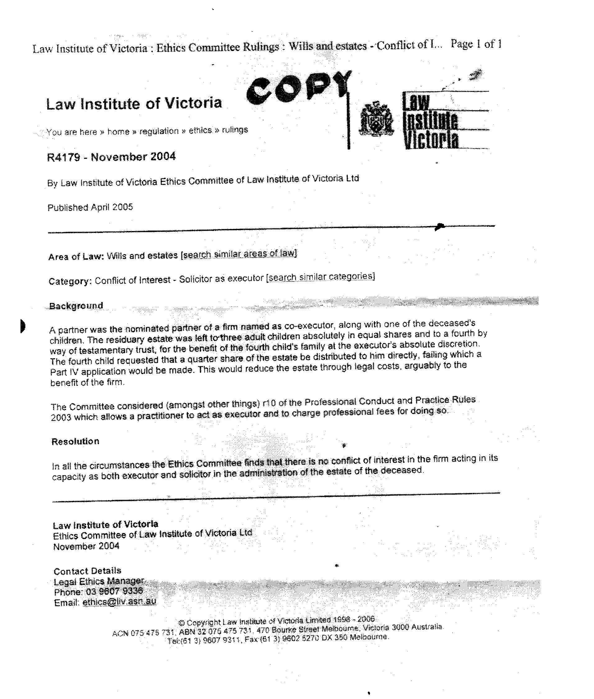 Victorian Legal Services Commissioner FOI3