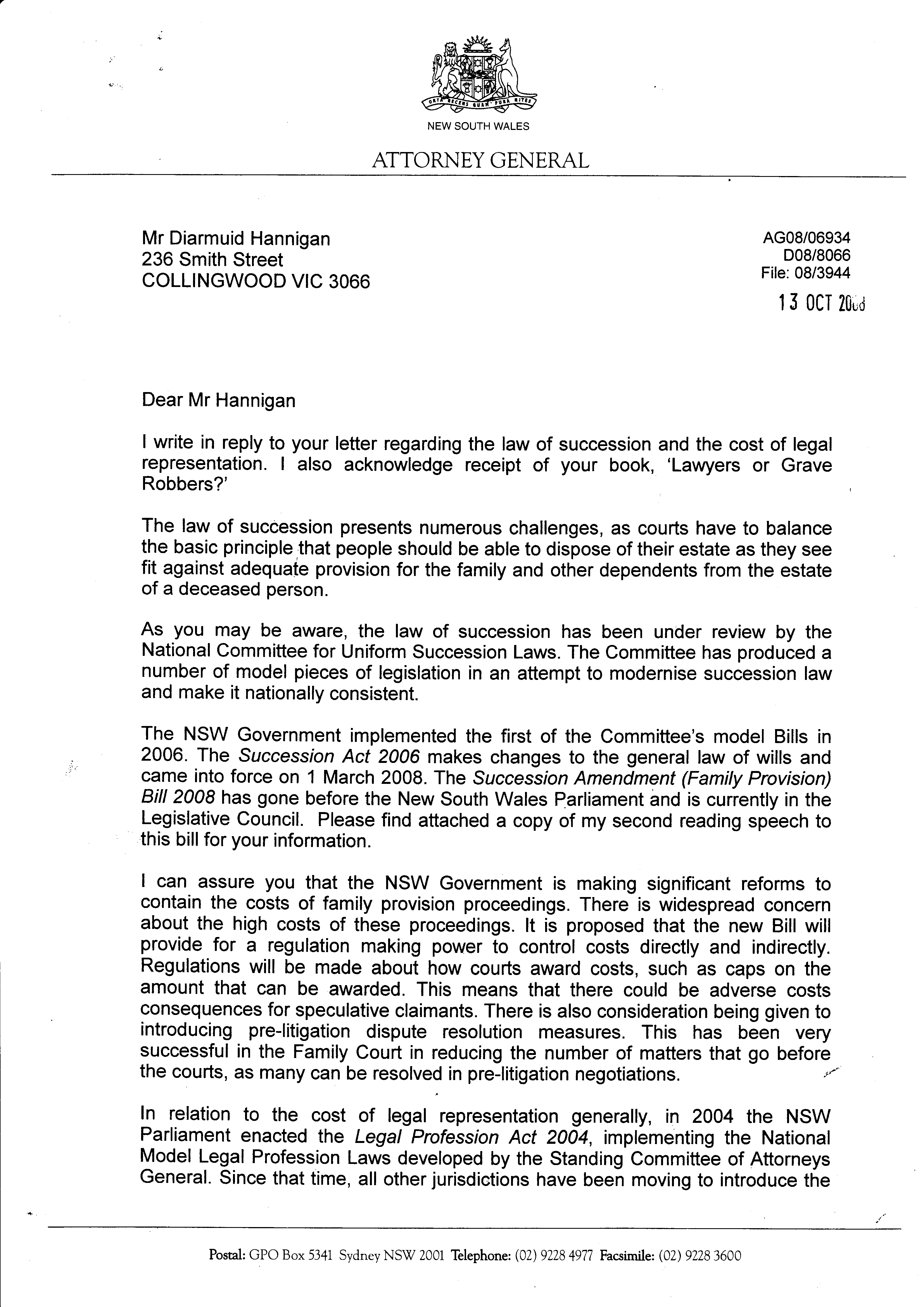 attorney general nsw 13 10 2008 pg1