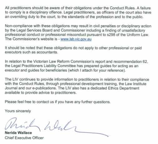 Letter from Law Institute of Victoria Pg3