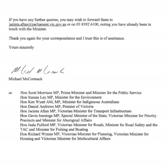 Reply from Michael McCormack pg 2